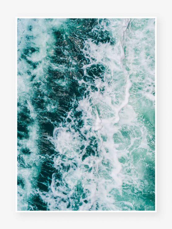 abstrakt hav GLRY poster