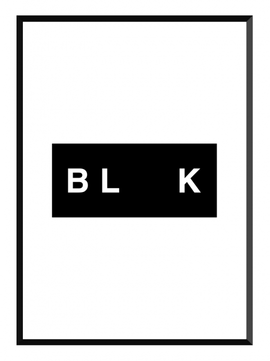 Black poster GLRY