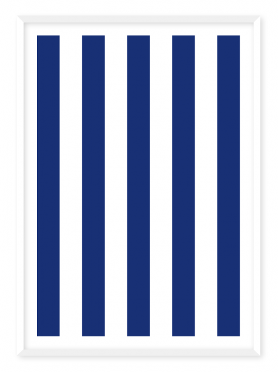 blue stripes poster