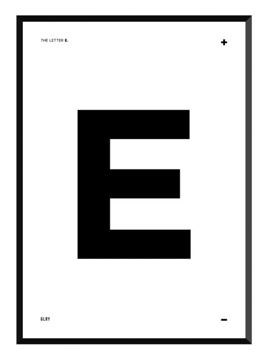 bokstavstavla E posters prints glry
