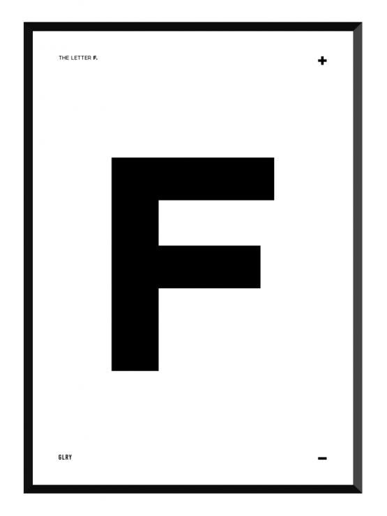 bokstavstavla F posters prints glry