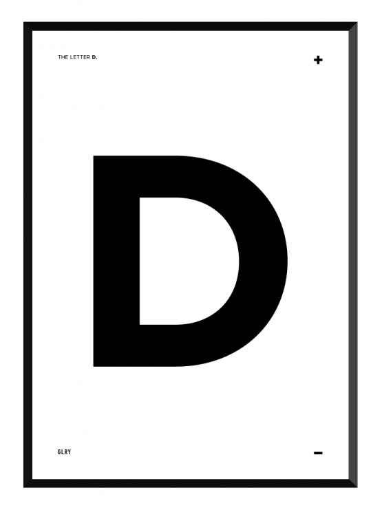 bokstavstavla D posters prints glry