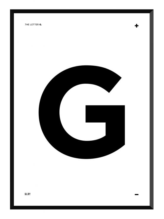 bokstavstavla G posters prints glry