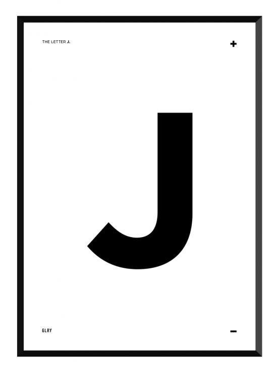 bokstavstavla J posters prints glry