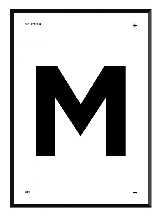 bokstavstavla M posters prints glry
