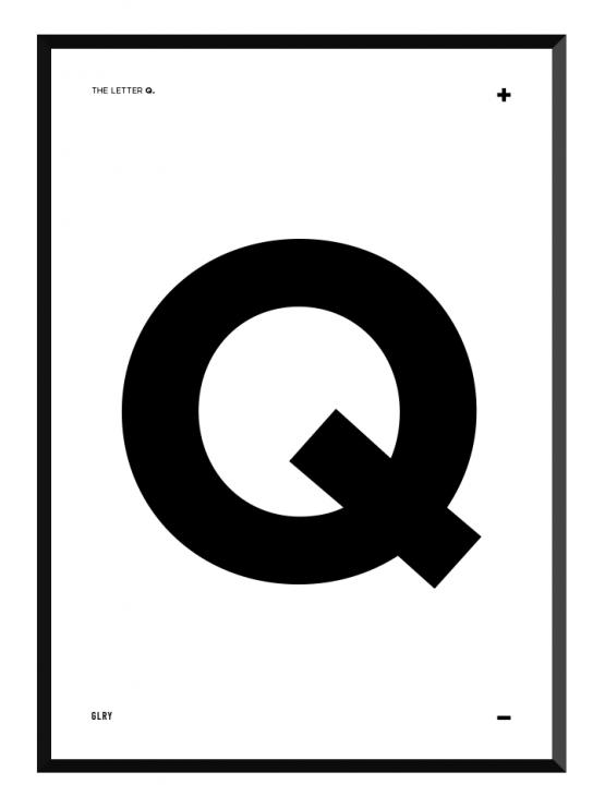 bokstavstavla Q posters prints glry