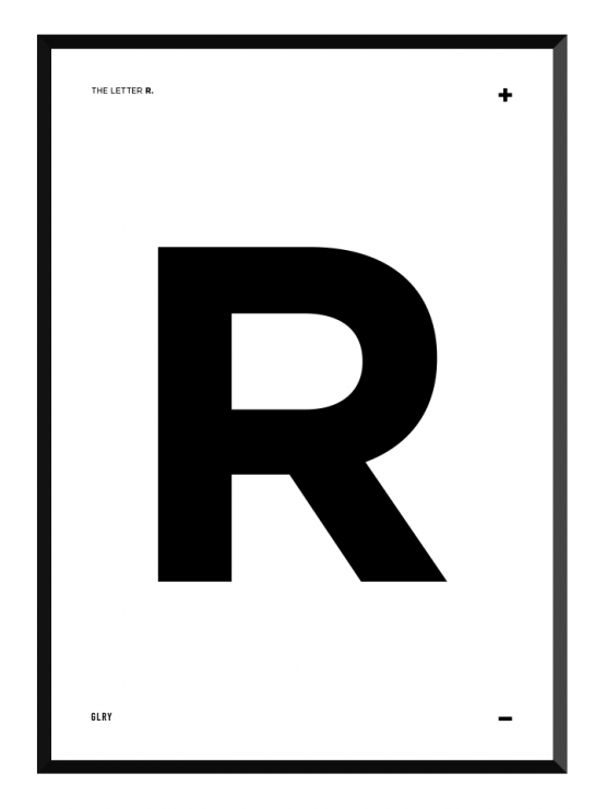 bokstavstavla R posters prints glry
