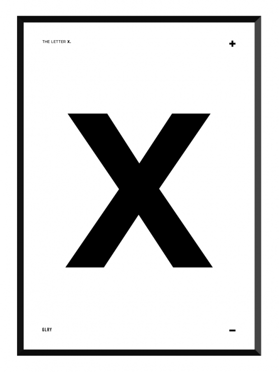 bokstavstavla X posters prints glry