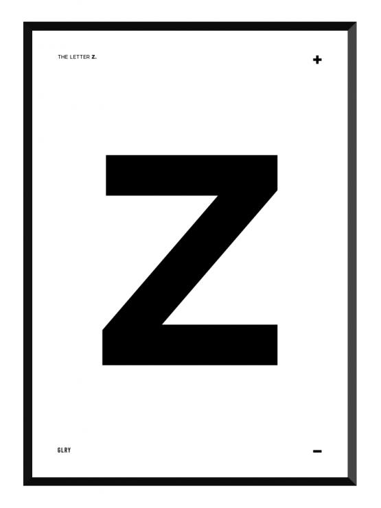 bokstavstavla Z posters prints glry