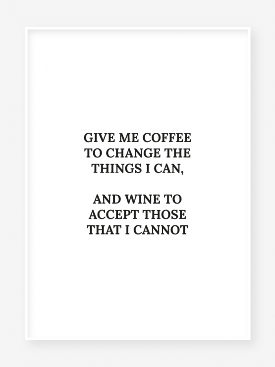 coffee & wine poster