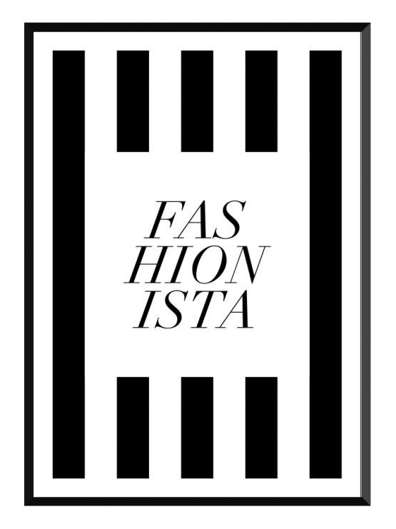 fashionista black stripes poster