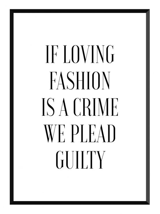 GLRY loving fashion poster