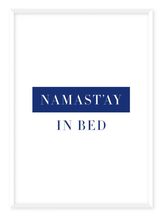 namastay blue poster
