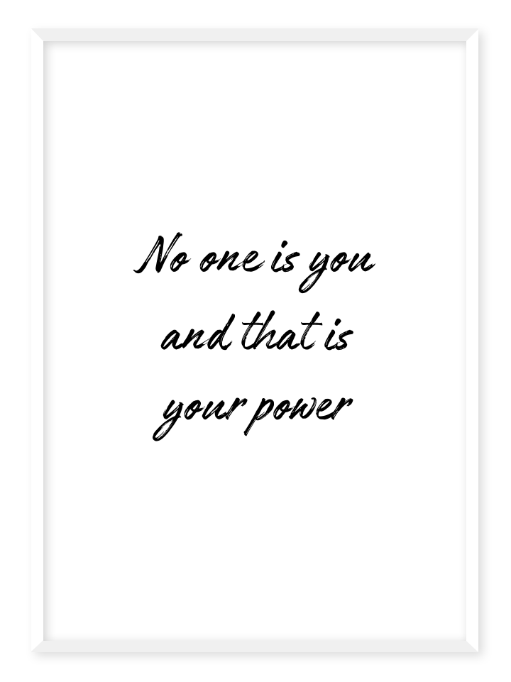 no one is you poster