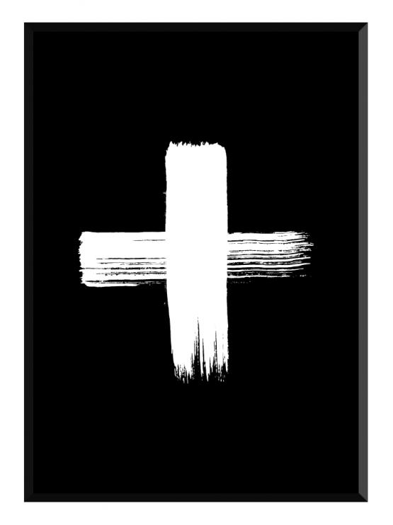 Plus Grunge Black Poster