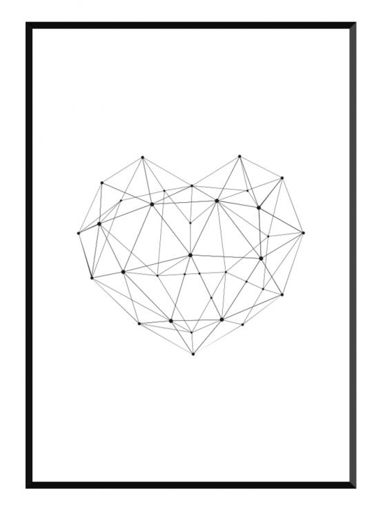 Geo Heart Poster