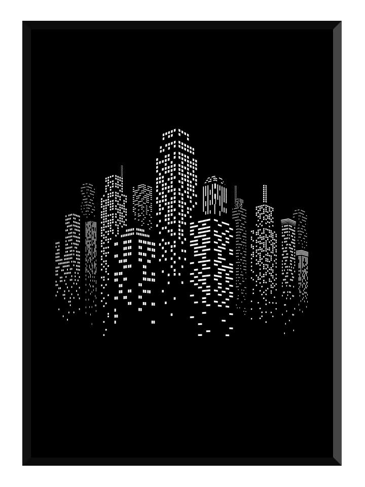 Skyscraper black poster