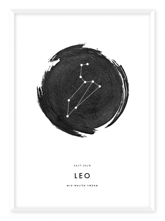 stjärntecken lejonet poster