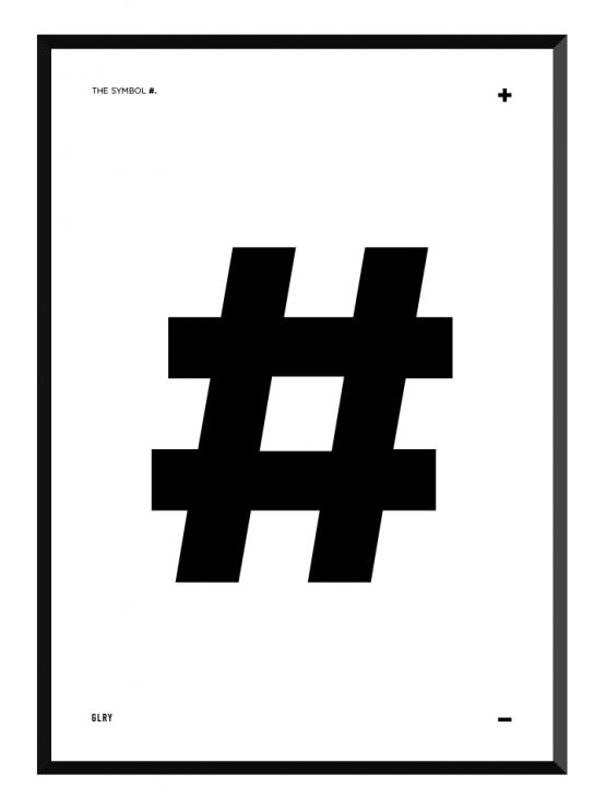 bokstavstavla hashtag posters prints glry
