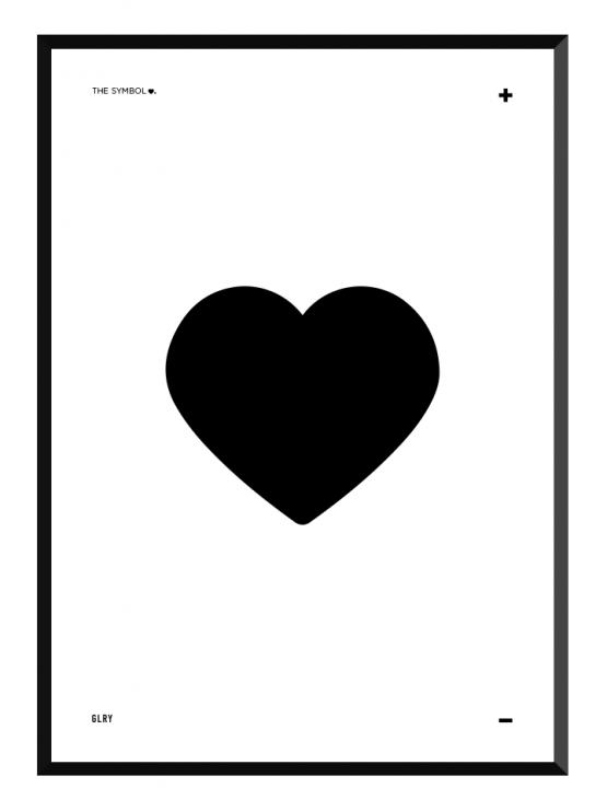 bokstavstavla hjärtaposters prints glry