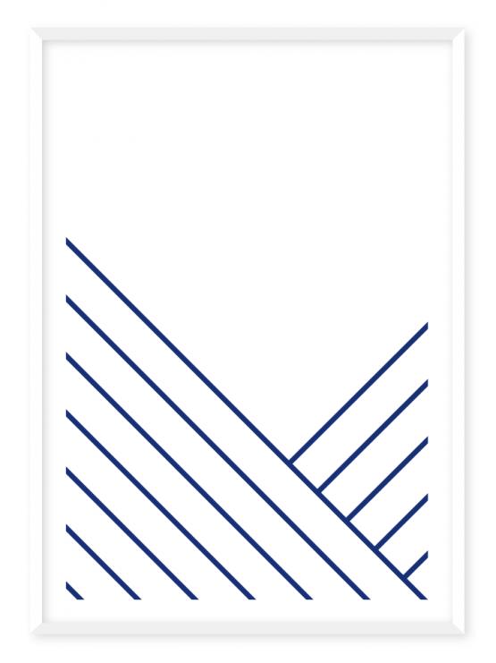 v stripes poster